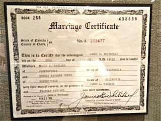 52 certficat de mariage de merle haggard