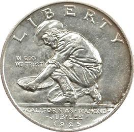 California diamond jubilee half dollar commemorative obverse