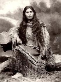 Indienne amerique chiricahua femme a fort sill