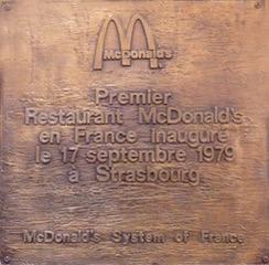 Mcdonald s strasbourg en 1979