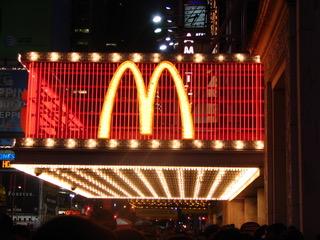 Mcdonald s sur times square