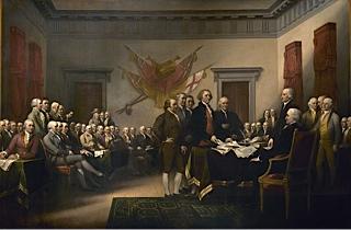 Photo 4 declaration independance par john trumbull 1817 1818