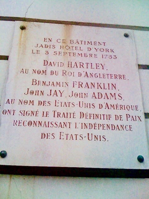 Plaque traite de paris 1