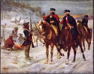 Washington et lafayette a valley forge